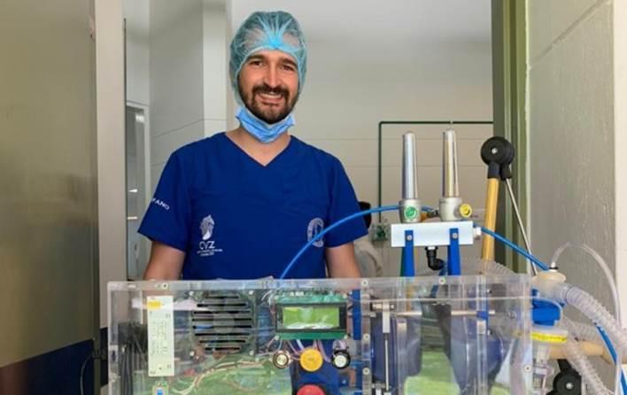 Este es el prototipo de Industrias Médicas Sampedro, la siguiente fase serán las pruebas en seres humanos. Foto: cortesía Alcaldía de Medellín